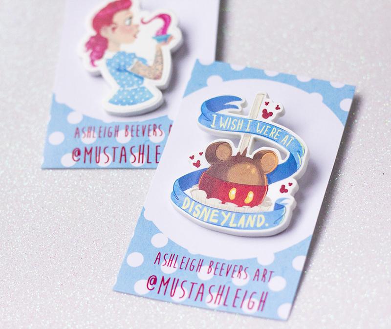 I wish I were at Disneyland Mickey Mouse caramel apple pin
