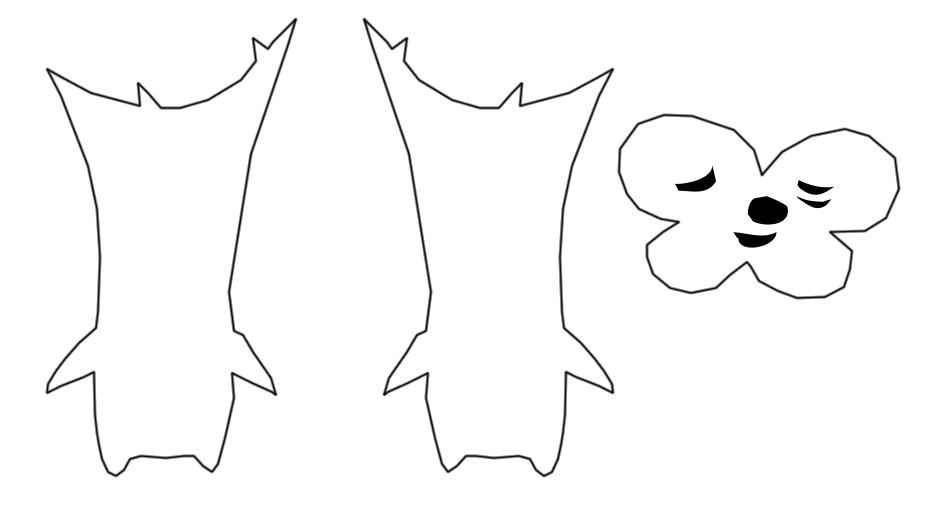 Korok plushie Linder clover leaf stencil