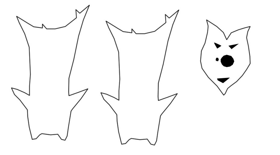 Korok Olivio plushie mask leaf stencil