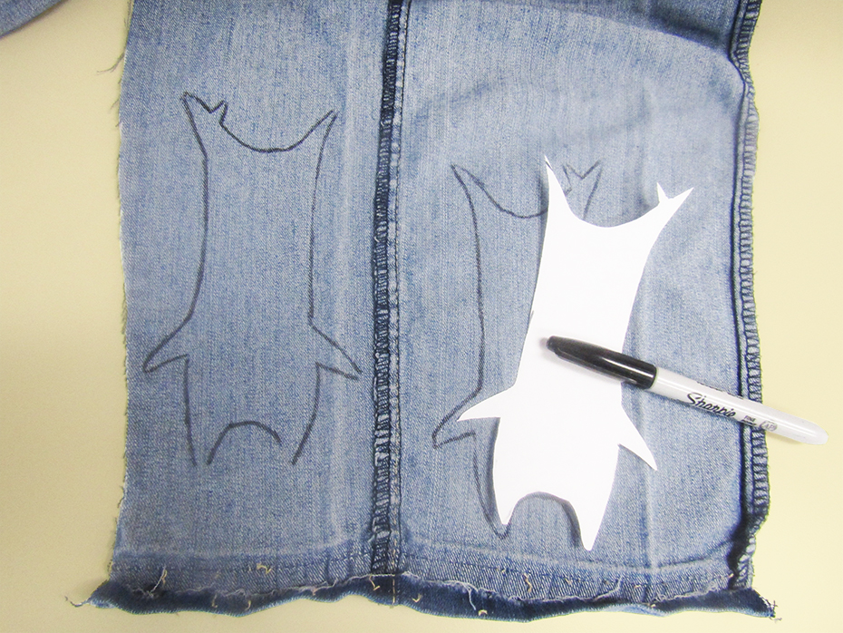 Korok plushie denim tracing