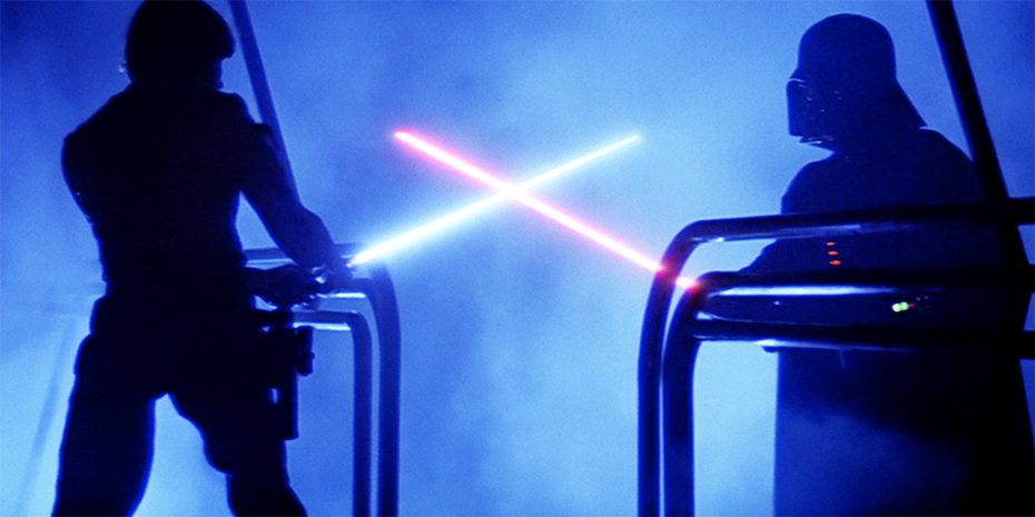 Star Wars: The Empire Strikes Back: Luke Skywalker vs. Darth Vader lightsaber fight