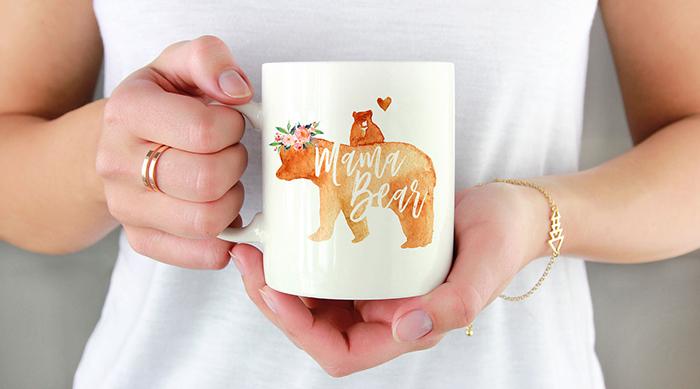 Mama Bear mug from Etsy