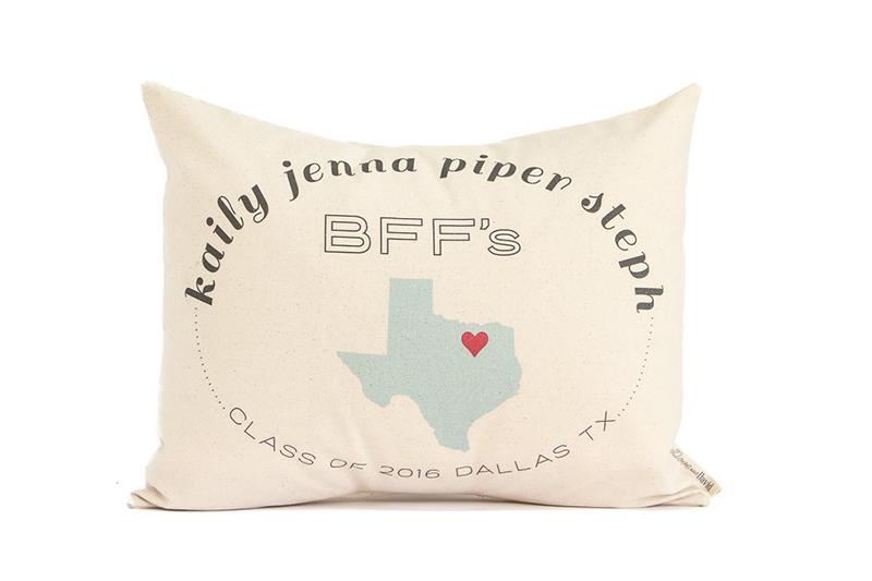 Personalized BFFs pillow