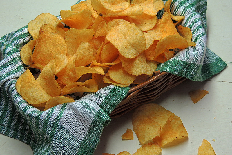 Basket of potato chips