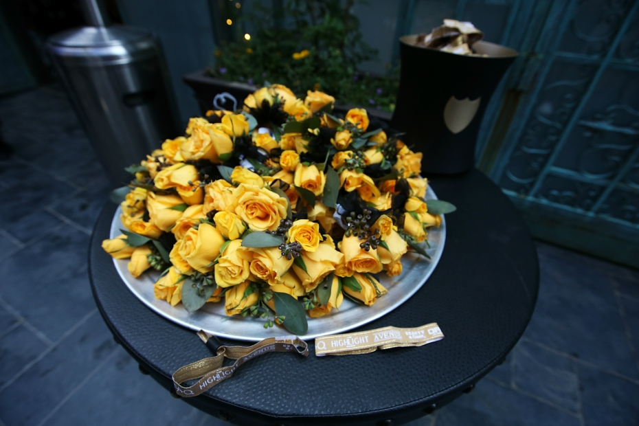 yellow flower corsages