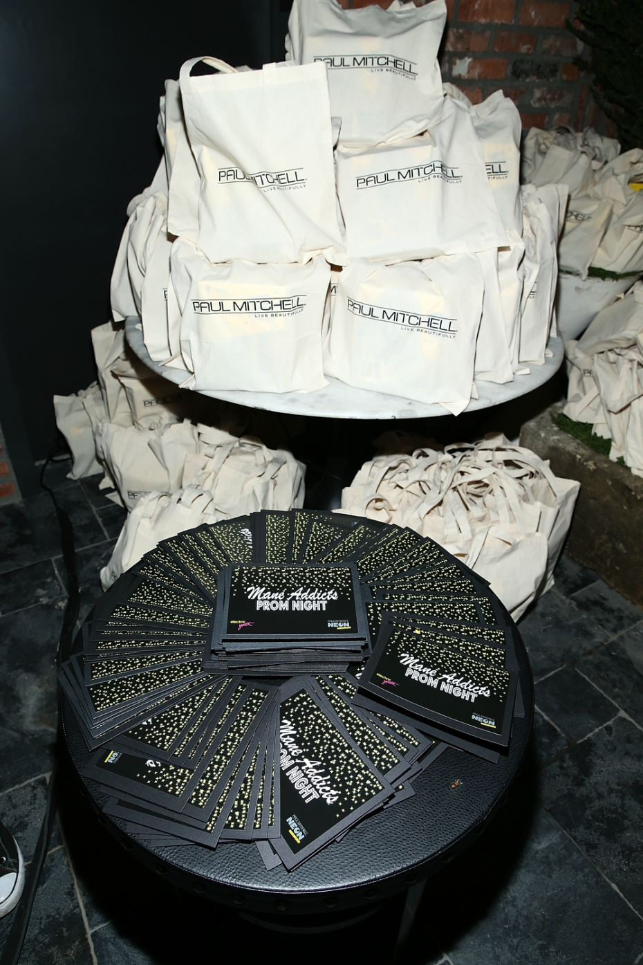 Paul Mitchell gift bags at Mane Addicts' Prom '17 party