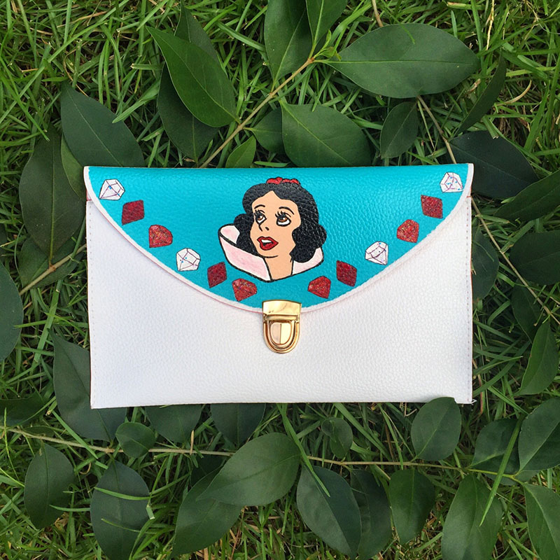 Hand painted Snow White clutch from Etsy