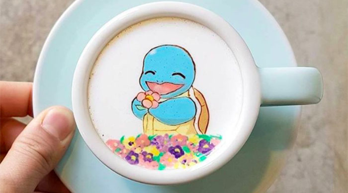 Coffee that looks like Squirtle