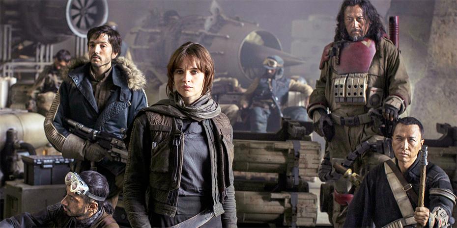 Star Wars: Rogue One Jyn Erso, Chirrut Imwe, Cassian Andor, Baze Malbus, Bodhi Rook