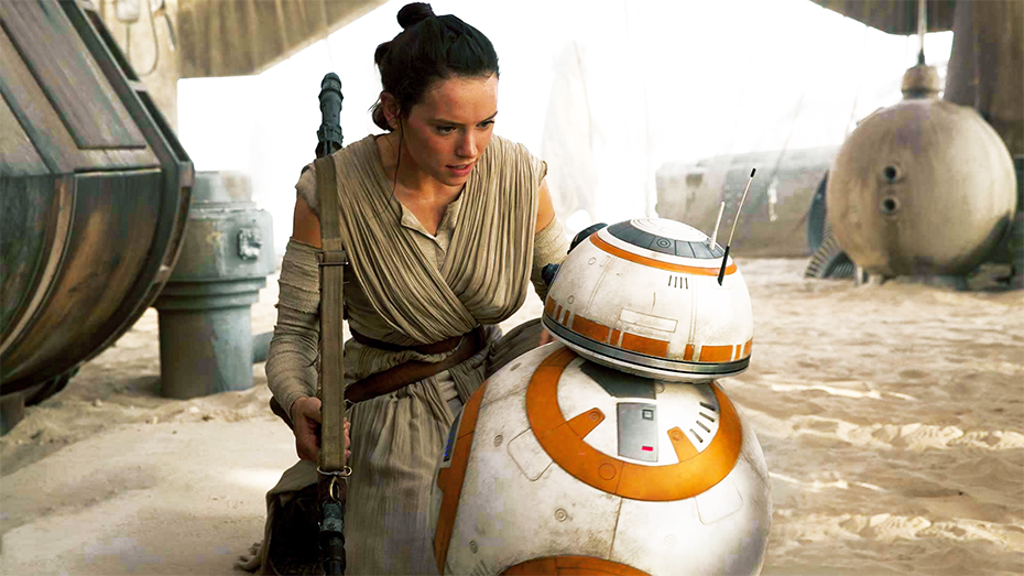 Star Wars: The Force Awakens Rey and BB-8 on Jakku
