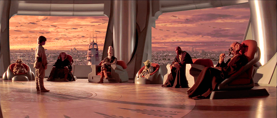 Star Wars: The Phantom Menace Jedi Council with Anakin Yoda and Mace Windu