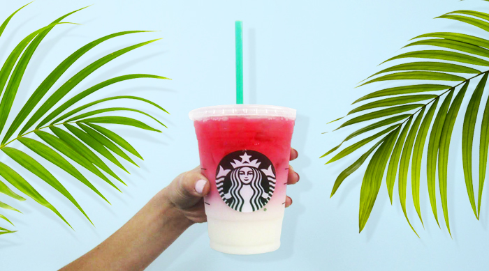 Ombre Pink Starbucks drink