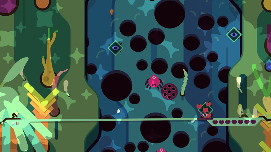 TumbleSeed jungle spiders lots of hearts