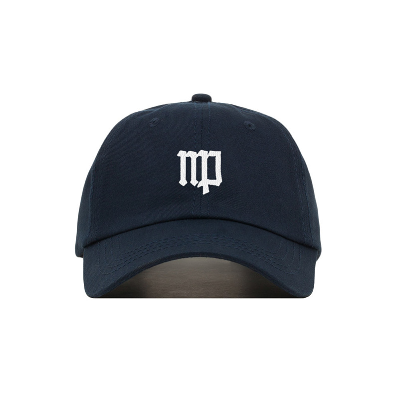 Virgo zodiac sign symbol embroidered on a black dad hat