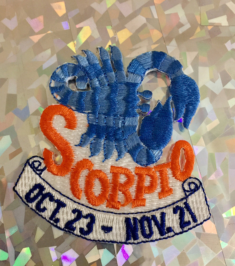 Scorpio zodiac sign patch