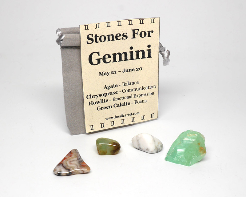 Stones for Gemini zodiac sign pouch