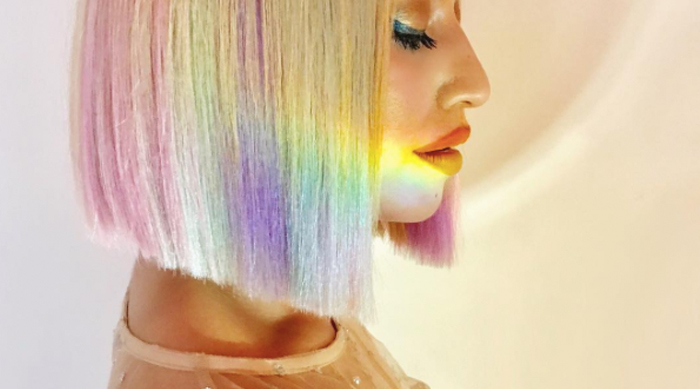 Rainbow, Colorful Pastel Hair