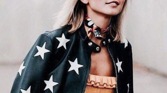 Star print jacket