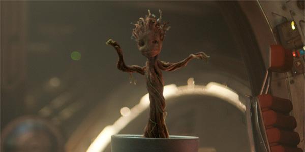 Baby Groot dancing in his pot