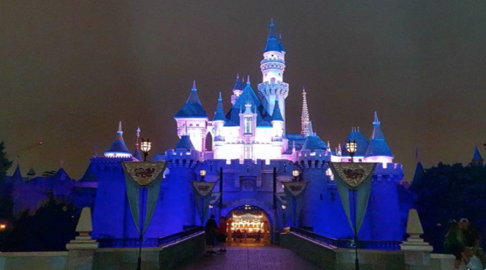 Disneyland's Sleeping Beauty Castle at Night