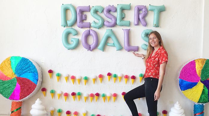 Ashley attending Dessert Goals food festival in Los Angeles, California