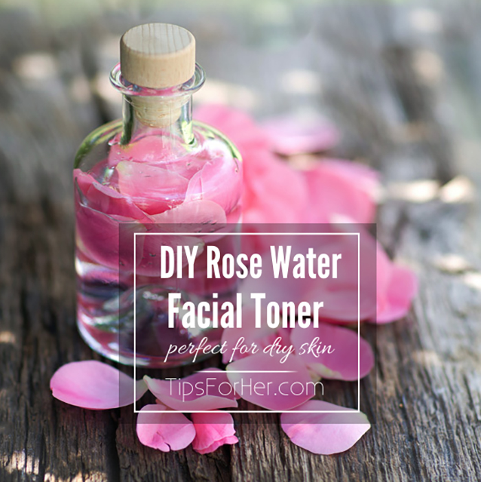 DIY rose water facial toner from Tips for Her
