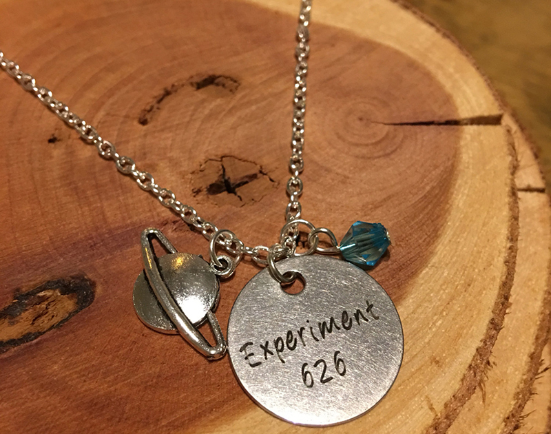 Experiment 626 necklace from Etsy