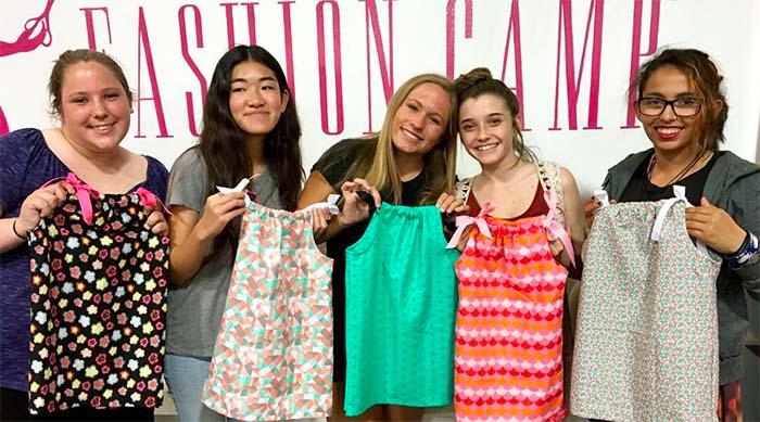Girls at Fashion Camp in Tustin, California