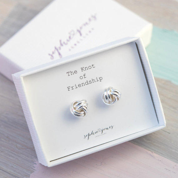 Friendship knot earrings from Etsy