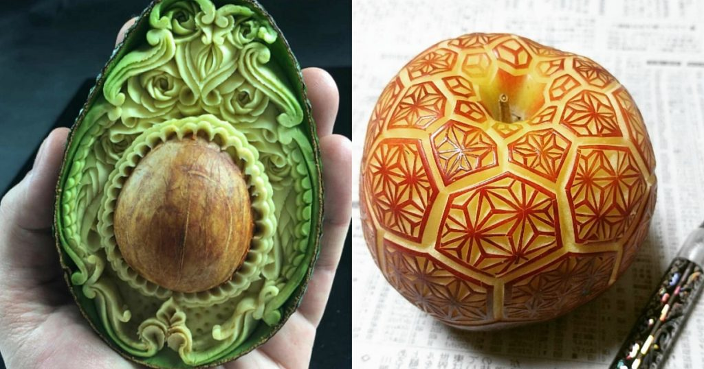 Jaw dropping art sculptures made from fruit