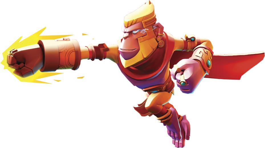 Brawlout: King Apu punching