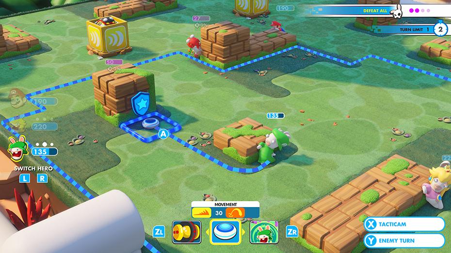 Mario + Rabbids Kingdom Battle luigi Rabbid fighting