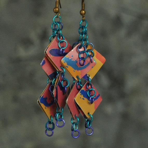 La Croix earrings from Etsy