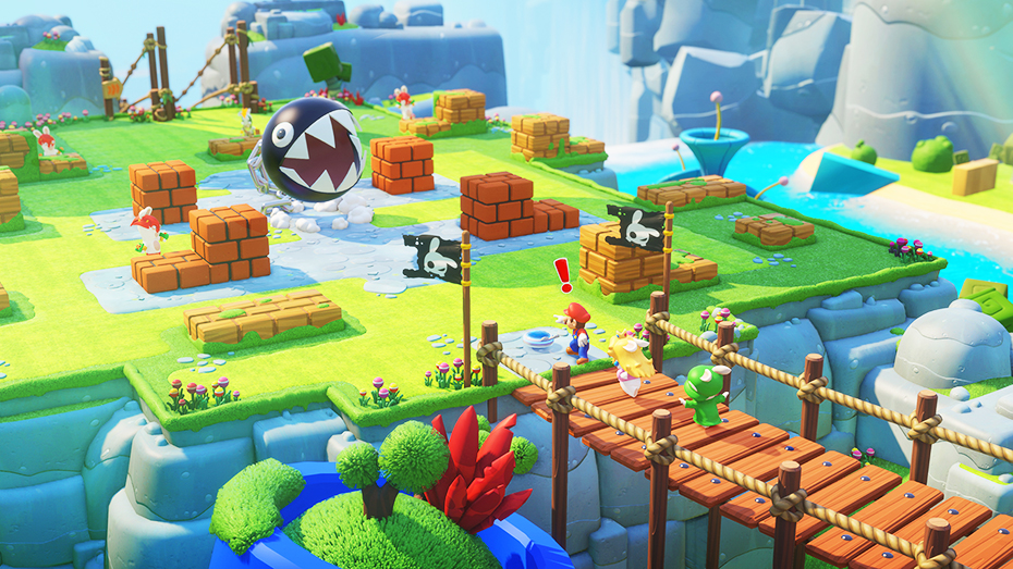 Mario + Rabbids Kingdom Battle chain chomp battle ground