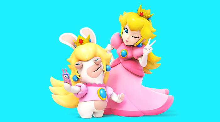 Mario+Rabbids Kingdom Battle Peach and Rabbids Peach