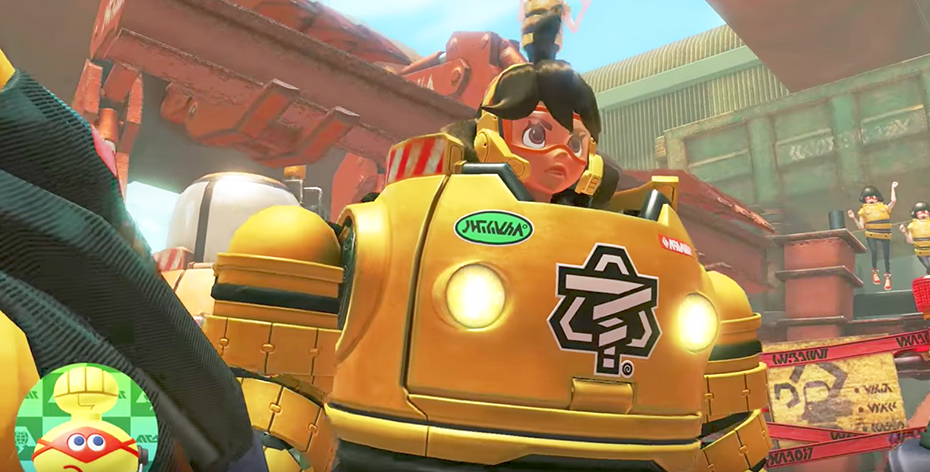 Nintendo Switch Arms: Mechanica closeup