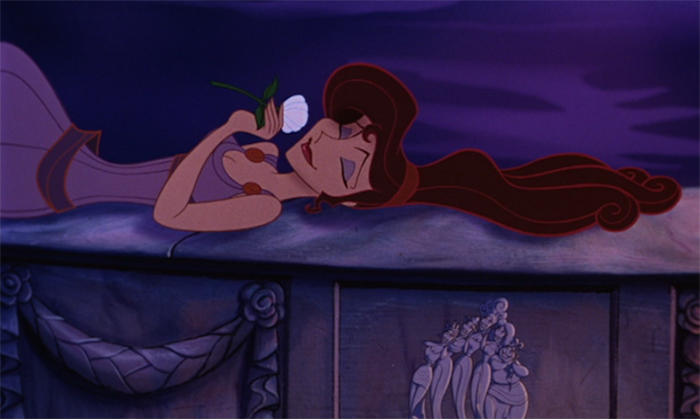 Megara singing 'I Won't Say (I'm in Love)' in Disney's Hercules