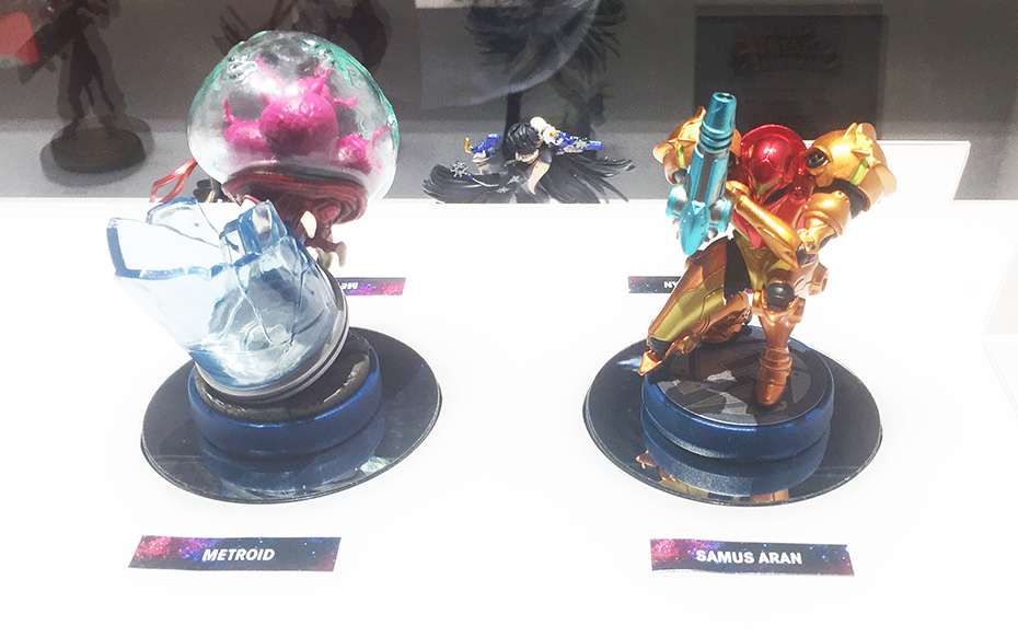 Metroid Amiibo: Samus Aran and Metroid from E3