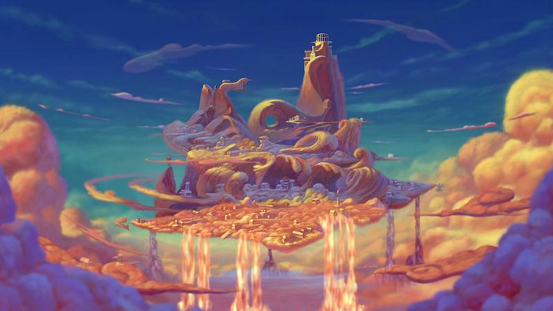 Mount Olympus in Disney's animated film Hercules