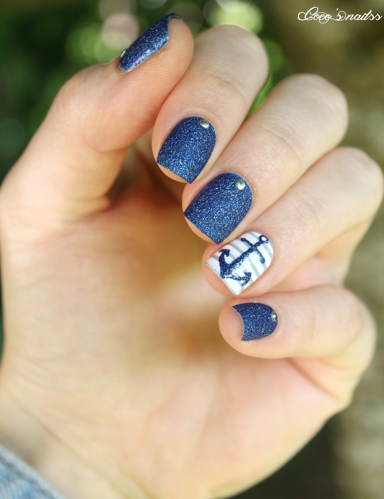 Nautical nail designs gallery nail art and nail design ideas stunning diy summer nail tutorials nautical nail design prinsesfo gallery prinsesfo Gallery