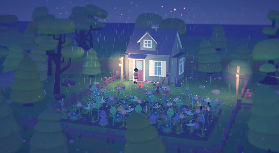 Ooblets farmhouse at night