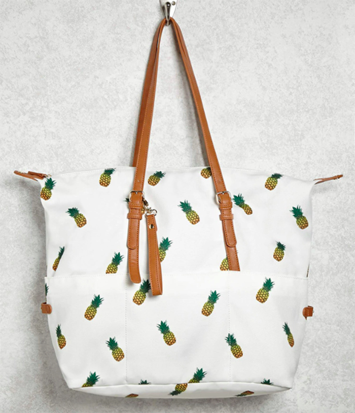Pineapple beach bag from Forever 21