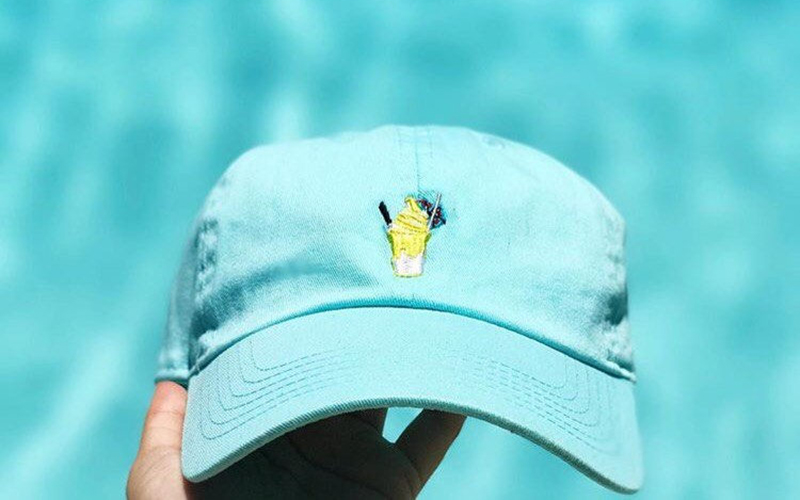 Pineapple Dole Whip dad hat from Etsy