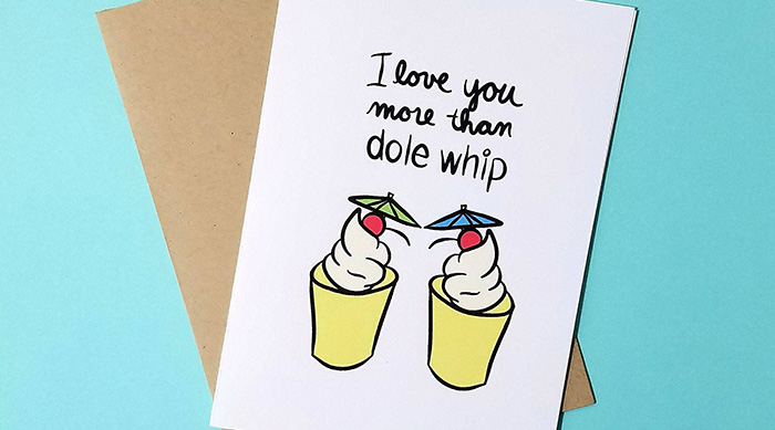 I love you more than Dole Whip greeting card from Etsy