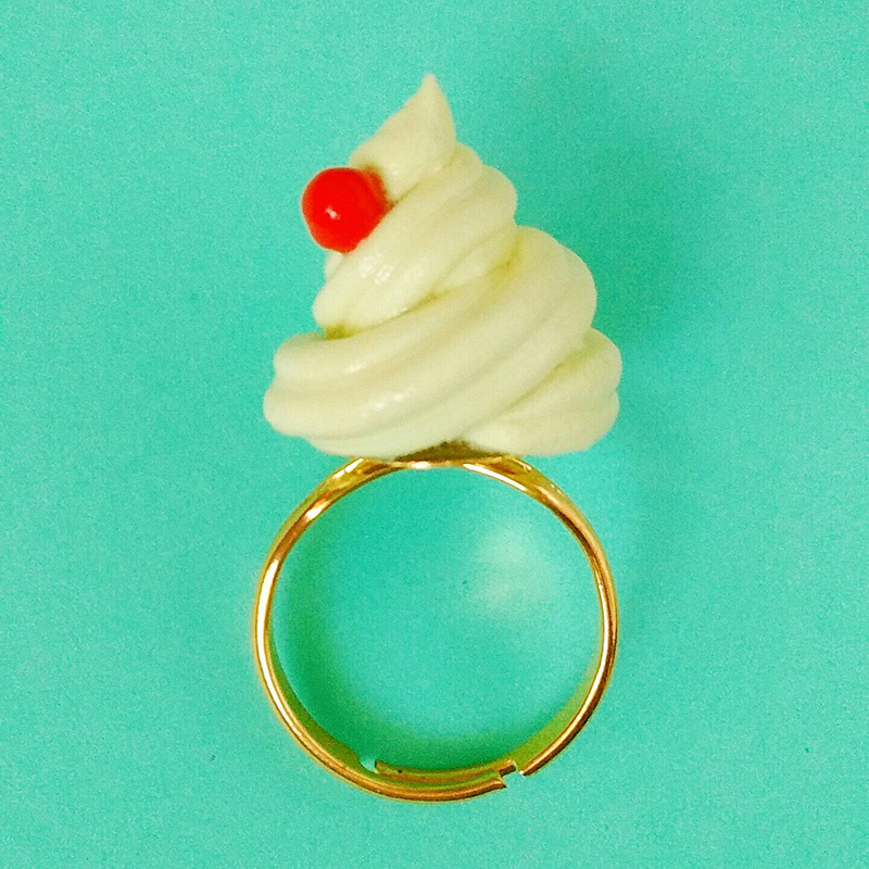 Pineapple Dole Whip ring from Etsy