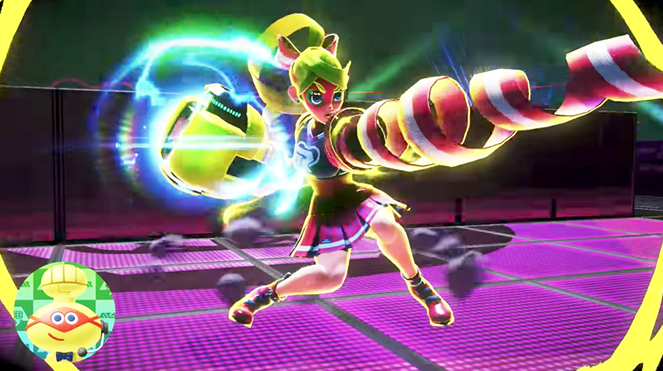 Nintendo Switch Arms: Ribbon Girl punching