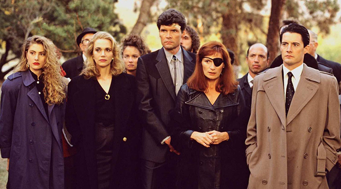 Twin Peaks characters at Laura Palmer's funeral
