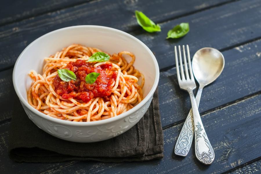 Spaghetti pasta in a bowl