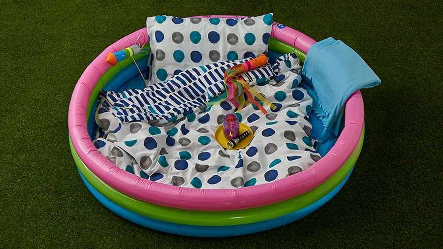 Stargazing in a kiddy pool