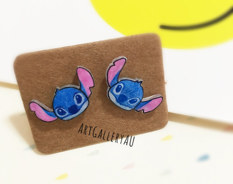 Handmade Stitch earrings from Etsy